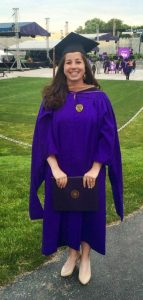 Lindsey Baker at graduation from the Kellogg School of Management at Northwestern University in 2015. (Photo courtesy of Lindsey Baker)